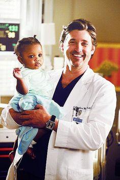 Derek and Zola Grey's Anatomy | Grey's Anatomy Derek and Baby son | Grey S Anatomy Meredith Zola ...