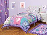 Girls Butterfly, Flowers, Hearts & Polka Dots Twin Comforter Set Piece Bed In A Bag) Kids Bedding Kids Comforter Sets, Kids Comforters, Bedding Sets, Quilt Bedding, Nursery Bedding, Girls Bedroom, Bedroom Decor, Bedroom Ideas, Bedrooms