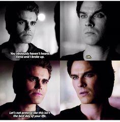 #TVD The Vampire Diaries Stefan & Damon