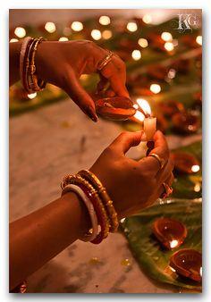 Lighting up a Diya