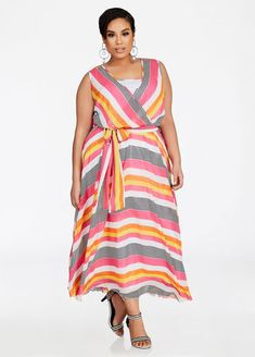 14f2e7854ca Ashley Stewart offers a comfy plus size belted full sweep maxi dress   sleeveless