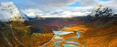 rapadalen, sarek national park, sweden.