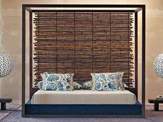 Bamboo Headboard With Cool Design