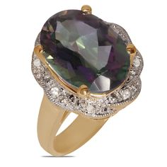 Ebay NissoniJewelry presents - .04CT w/ Mystic Topaz Fashion Ring 10k Y/Gold    Model Number:FR8857A-Y077MST    http://www.ebay.com/itm/04CT-w-Mystic-Topaz-Fashion-Ring-10k-Y-Gold-/222062066188