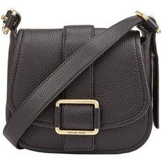 7ce67967b7d MICHAEL Michael Kors Medium Leather Across Body Bag , Black Across Body Bag,  Replica Handbags