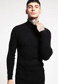 Köp River Island Stickad tröja - black för 349,00 kr (2017-02-13) fraktfritt på Zalando.se