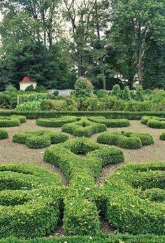 Formal Upper Garden at George Washington's Mount Vernon.