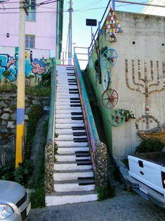 Street Art Piano Stairs #stairs, #piano, #streets, #art, #pinsville