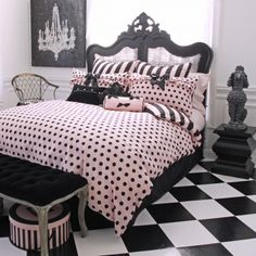 Frenchie - Polka Dot  ~  LOVE the polka dots & bows!!!!   ~  I have this 'thing' for them :o)
