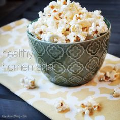 Forget the bagged stuff! Make your own healthy, homemade popcorn.