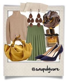 Tuesday (18/10/2016) by saopolyvore on Polyvore featuring ファッション, Totême, Le Kilt, Gianvito Rossi, The Row, Irene Neuwirth, Faliero Sarti, Burberry and Polaroid