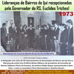 IJUÍ - RS - Memória Virtual: Lideranças de Bairros de Ijuí reunidas com o então...