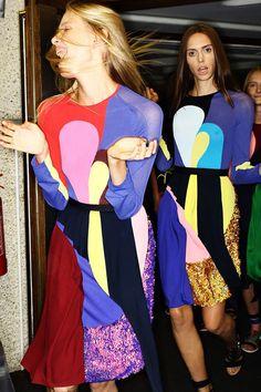 London Fashion Week - Peter Pilotto Spring 2015 Backstage