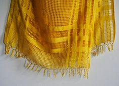 Goldenrod  Handwoven Windowpane Fair Trade Silk by HonestAlchemyCo, $100.00
