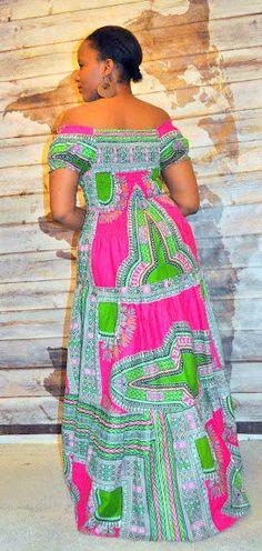 Afro Bohemian Gypsy style Maxi dress