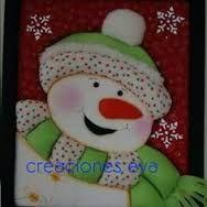 Resultado de imagen para cuadros en falso patchwork navideños Yoshi, Ideas Para, Snowman, Polymer Clay, Christmas, Character, Amelia, Art, Holidays