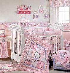 hello kitty crib set.
