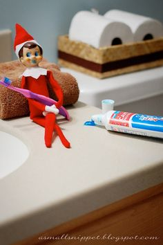 great post by A Small Snippet re: santa, elf on the shelf, and meaning of christmas