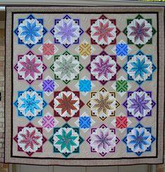 Matty's Stars (Eldon pattern from Edyta Sitar).  By Mildred Baggett