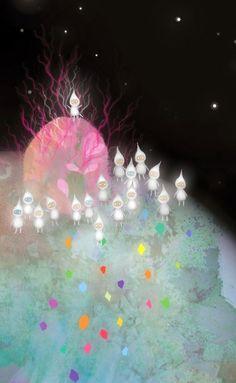 Crystal Moon by Lisa Evans, via Behance