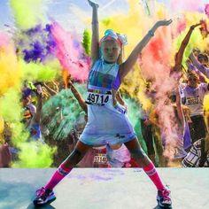 SHINE at the Color Run - LOVE getting chalk everywhere.  http://things2doinutah.com/color-run-coupon-salt-lake-city/