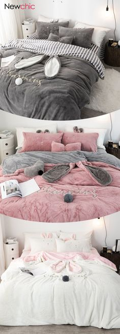 DecBest Chenille Crystal Velvet Bedding Set Full Queen King Quilt Cover Bed Sheet Pillowcase is hot sale on Newchic with discounts. Velvet Bedding Sets, Velvet Bed Sheets, Comforter Sets, Bunny Beds, Rustic Bedding Sets, Winter Bedding, Beds For Sale, Affordable Bedding, Discount Bedding
