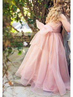 38d2508d2b2 Floor Length Cute Pink Flower Girl Dresses with Sash ARD1301