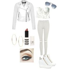 White by tdibert on Polyvore featuring polyvore, beauty, Topshop, Tom Ford, Michael Kors, Miss Selfridge and Ash