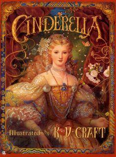 "Isn't this beautiful... Kinuko Y. Craft, cover art for ""Cinderella"""