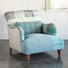 Muted patchwork chair