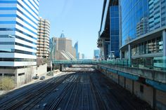 Beautiful view of the Skywalk and old railway lines downtown Toronto. These old lines don't get nearly the attention and care that they used to. Building strong cities starts with their infrastructure, why not start here? #Toronto #BuildStrongCities