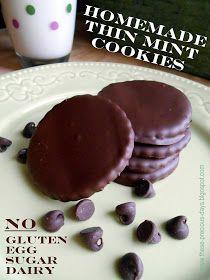 These Precious Days: Homemade Thin Mint Cookies (GF)