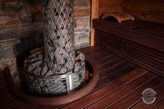Sauna benches are made from doussie. Finnish Sauna, Benches, Solid Wood, Bathroom, Projects, Washroom, Log Projects, Banks, Blue Prints