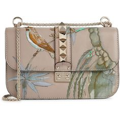 Valentino Lock embroidered leather shoulder bag (8,865 PEN) ❤ liked on Polyvore featuring bags, handbags, shoulder bags, valentino, shoulder handbags, studded purse, genuine leather shoulder bag, valentino handbags and studded handbags