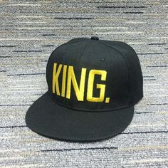 a3afeb39368 KING and QUEEN Snapback Hats for Couples