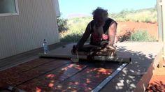 Aboriginal Artist Ronnie Tjampitjinpa Bush Fire 0942