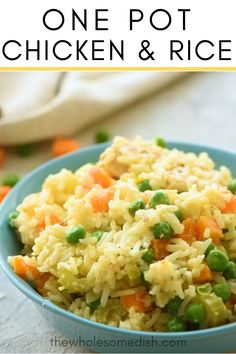 Chicken And Rice Dishes, Creamy Chicken And Rice, Chicken Recipes, Dishes With Rice, Chicken Broth Rice, Chicken And Rice Crockpot, Chicken Rice Skillet, Skillet Food, Skillet Recipes