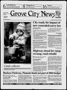 Grove City News - Google News Archive Search