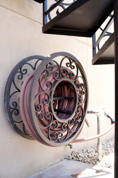 Hose Reel Iron Artwork #Firstimpressions The very first hose reel that I've not thought looked hideous!