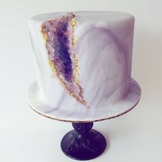 Amethyst geode cake for a very lovely ladies birthday. #happybirthday