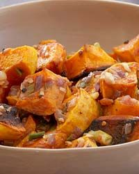 Roasted Butternut Squash with Cilantro Cream // More Quick Side Dishes: http://www.foodandwine.com/slideshows/quick-side-dishes #foodandwine