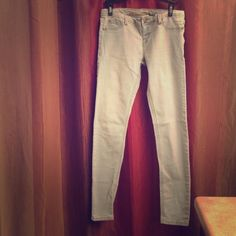 Light blue Jeans Medium sized pair of jeans. He's the elasticity affect to them, so fits perfectly. Smaller fit at the bottom so perfect for sneakers or heals. Let me know if you have any questions! Charlotte Russe Jeans Skinny