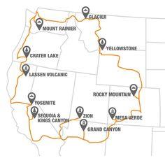 Visit 12 National Parks Along the National Park to Park Highway