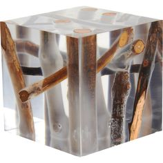 Bleu Nature Kisimi Frosted Driftwood Cube at Barneys.com