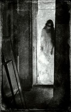 Very creepy. Arte Horror, Horror Art, Horror Pics, Dark Fantasy, Fantasy Art, Creepy Pictures, Badass Pictures, Halloween Pictures, Haunted Places