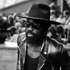 YOUNG beard hat fashion men sunglasses