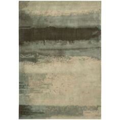 Calvin Klein Rugs Luster Wash  Light Green Contemporary Rug
