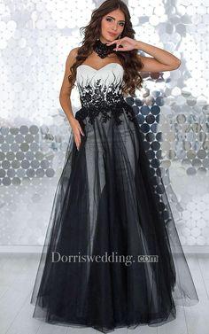 #AdoreWe #Dorris Wedding - #Dorris Wedding A-Line Floor-Length Sweetheart Sleeveless Tulle Appliques Beading Lace-Up Dress - AdoreWe.com
