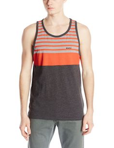 RVCA Men's Pickup Tank, Charcoal Heather, Small Fashion Brands, Men's Fashion, Mens Printed Shirts, Indian Bridal Outfits, Best Tank Tops, Preston, Under Armour, Artworks, Tank Man