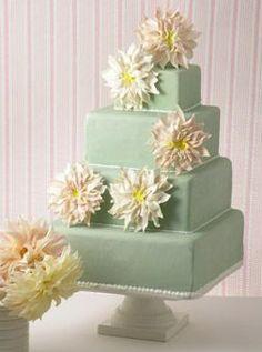 Pistachio-Colored Wedding Cake